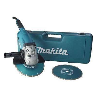 Makita GA9020 Winkelschleifer 230 mm, GA9020RFK3 mit 2 Dia-Scheiben + Koffer
