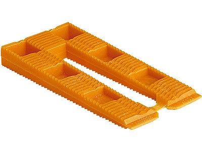 100 Stück Kunststoffkeil, orange 80x40x8 mm