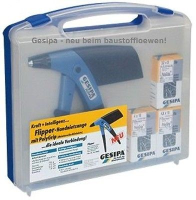GESIPA Nietzange Handnietzange Blindniet-Setzgerät Flipper Box mit Nietsortiment