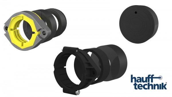 Hauff Gas-Anschluss Set Auführung RMA oder Schuck DN25 für MSH / ESH + Abschluss