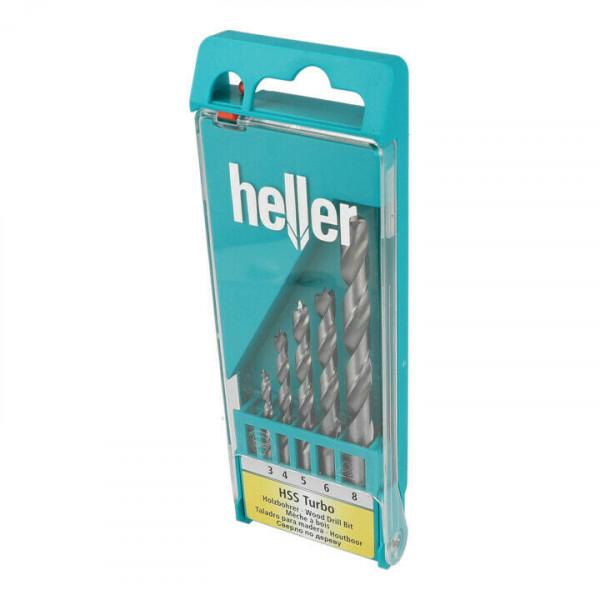 5-tlg. Heller-Satz 0335 HSS Turbo Holzbohrer Ø 3/4/5/6/8 mm Bohrer 288170