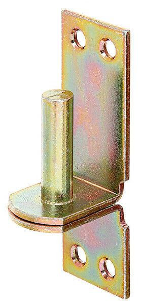 Ladenband-Kloben Kloben auf Platte DI, 13 mm, Aufschraub-Haken gelb verzinkt