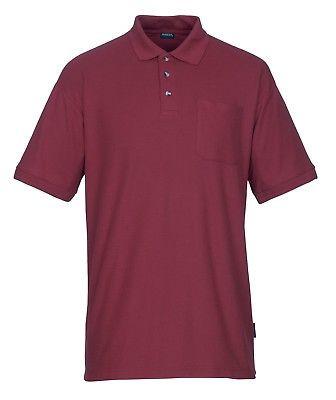 Mascot Polo - Shirt Borneo Gr. M rot Poloshirt mit Brusttasche und Knopfleiste