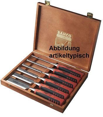 Bahco 6-teiliges Stechbeitel-Set im Holzkoffer
