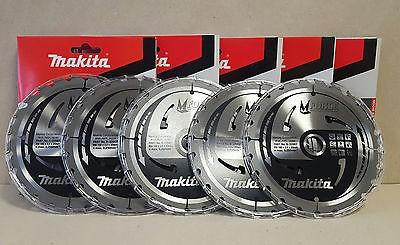 5x Makita TCT Kreissägeblatt M-Force 165 x 20 mm Holz-Sägeblatt 24 Zähne B-32007