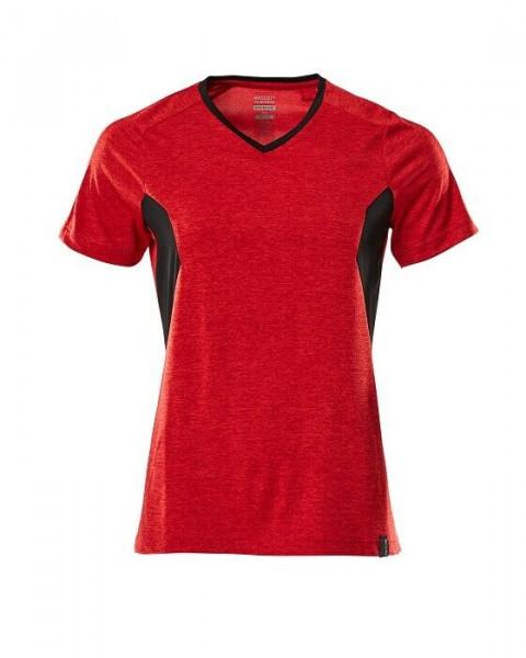 Mascot Damen T-Shirt Gr.L verkehrsrot/schwarz 18092-801-20209 Accelerate Kurzarm