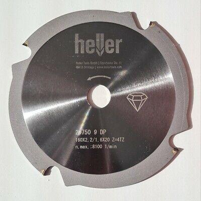 Heller HM-Kreissägeblatt für Faserzement 160x2,2x20 mm diamantbeschichtet