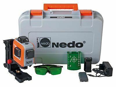 NEDO X-Liner 3D green Multi Linienlaser 3x360° Baulaser mit Li-Ion Akku 460876