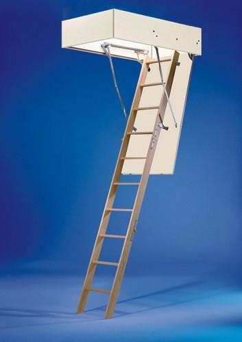 Wellhöfer Bodentreppe Bodenluken-Dachbodentreppe GutHolz 140x60 cm ungedämmt