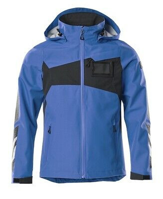 Mascot Hard Shell Jacke, Arbeitsjacke,Größe 2XL, azurblau/schwarzblau,Accelerate
