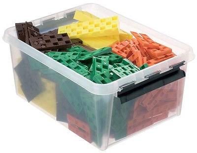 Box mit 245 Keile, Ausgleichskeile, Distanzkeile, Kunststoffkeile, Rastkeile in 4 Größen