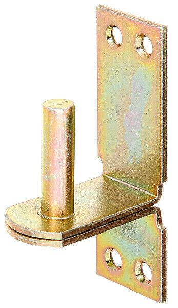 Ladenband-Kloben Kloben auf Platte DII, 16 mm, Aufschraub-Haken gelb verzinkt
