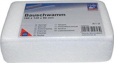 Bauschwamm Fliesenschwamm Fliesenlegerschwamm Schwamm feinporig weiß 180 x 120mm