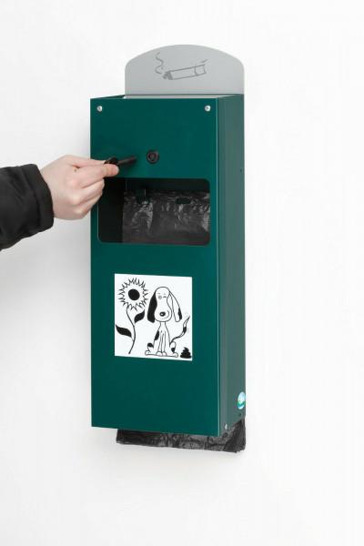 VAR Hundekotbeutelspender Kotbeutelspender DS4 moosgrün 21193 Hundetoilette