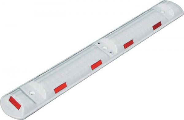 Leitschwelle L1170xB150xH50mm Polypropylencarbonat weiß mit roten Reflexstreifen