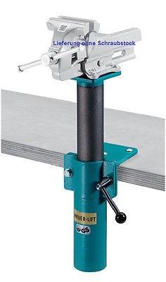 HEUER Schraubstock - Höhenverstellgerät Höhenversteller für 140 mm Backenbreite