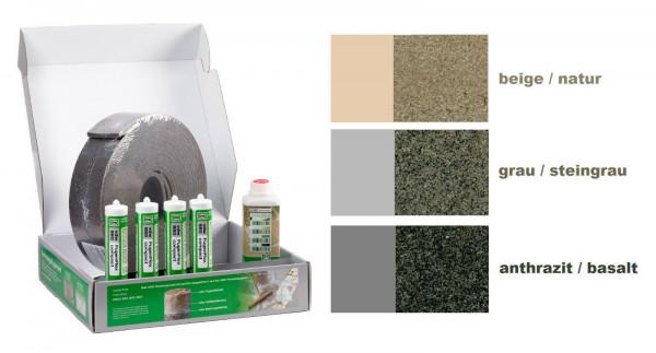 GftK 10 lfm vdw Dehnungsfugen-Set für Naturstein- Betonstein- und Keramikbeläge