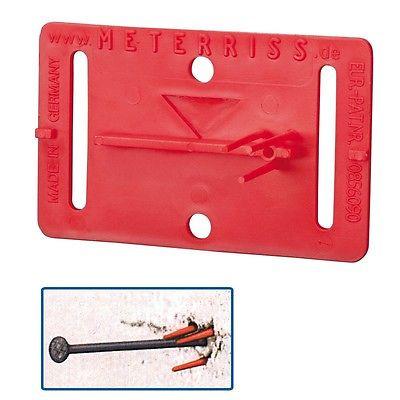 Meterriss-Vermarkung Meterrissmarke Meterriß-Marke selbstklebend mit Pinsel