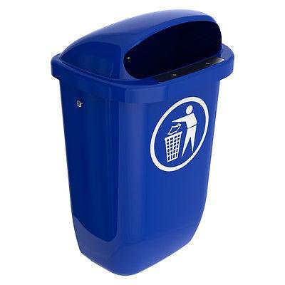 Abfallbehälter, Mülleimer, 50 Ltr. Kunststoff, blau
