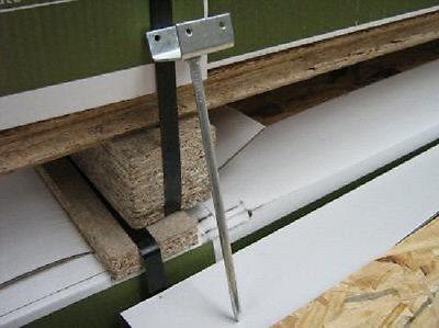 10 Stück Firstlattenhalter, Länge 210 mm