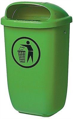 SULO Außen- Abfallbehälter Mülleimer Abfalleimer/-sammler 50 Ltr Kunststoff grün
