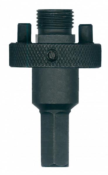 Heller Aufnahmeschaft Sechskant + Zentrierbohrer für Lochsäge 32-152 mm 190947