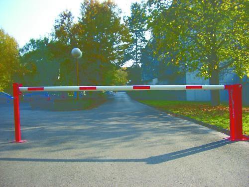 Schranke, Handschranke, Absperrschranke, 5000 mm m. Stütze