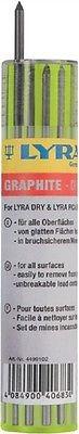 LYRA 12 Stück Ersatzmine für Baumarker, Graphitmine für Holz, Metall,Glas