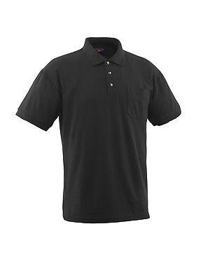 Mascot Polo-Shirt Borneo Gr. L schwarz Poloshirt mit Brusttasche und Knopfleiste