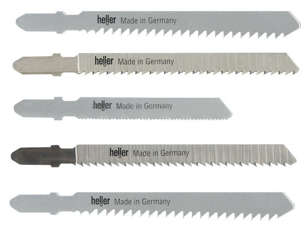 Heller Stichsägeblatt-Set 5-tlg. 274982 2x Metall 55mm, 3x Holz 75mm
