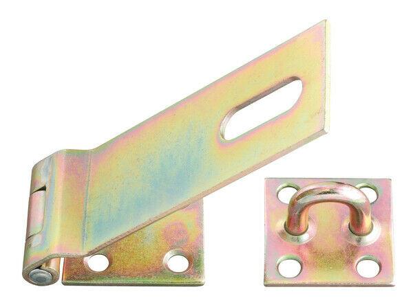 Sicherheits Überfalle Schloß Türschloß Verschluss 50mm gelb verzinkt GAH 348373