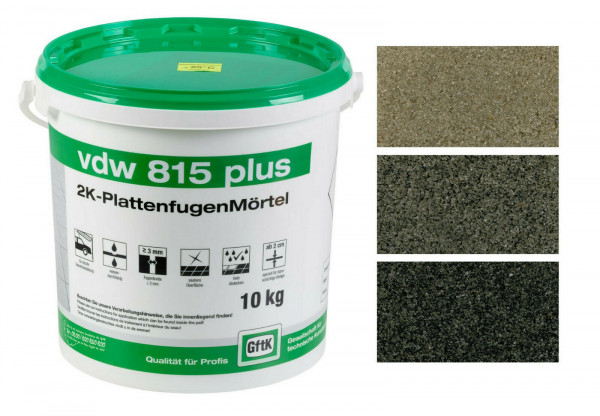 GftK Fugenmörtel 2K Plattenfugenmörtel vdw 815 plus wasserdurchlässig 10 kg