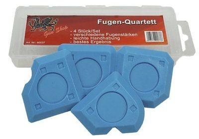 Irion Fugen Quartett 4er-Set in Kunststoffbox für Keil- und Hohlfugen
