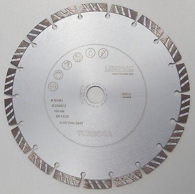 2 Stück Lissmac Diamantscheibe, 230 mm für Beton und Stein