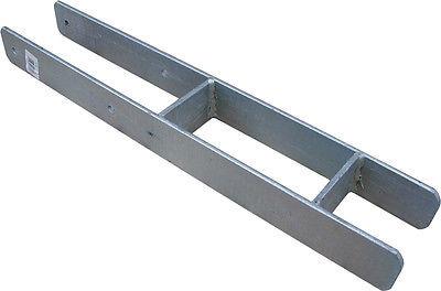 H-Pfostenträger 600mm für 9x9 cm Pfosten Stützenfuß T&J stahlverzinkt