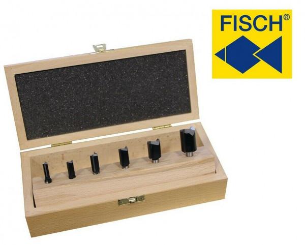 FISCH tools HM-Nutfräsersatz 6-tlg. Nutfräser für Oberfräse 6 bis 20 mm