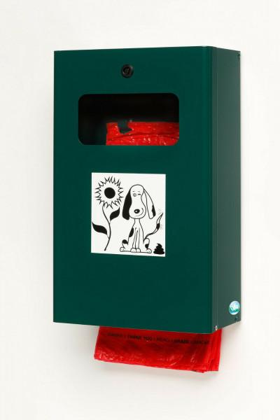 VAR Hundekotbeutelspender Kotbeutelspender DS6 moosgrün 21196 Hundetoilette