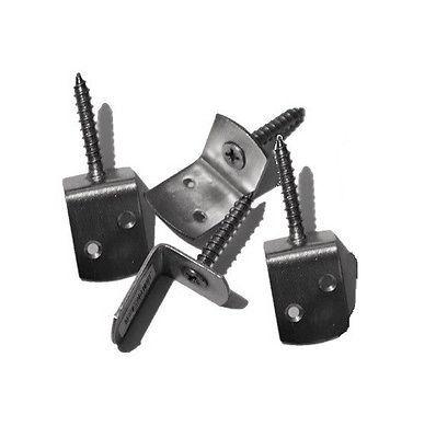 4 Winkelbeschläge für Sichtschutzzaun T&J Edelstahl inkl. Schrauben