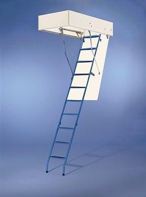 Wellhöfer Bodentreppe Dachbodentreppe Stahlblau 140x70 cm ungedämmt