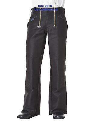 Pionier Zunfthose, schwarz, mit Schlag, Arbeitshose Handwerkerhose 304