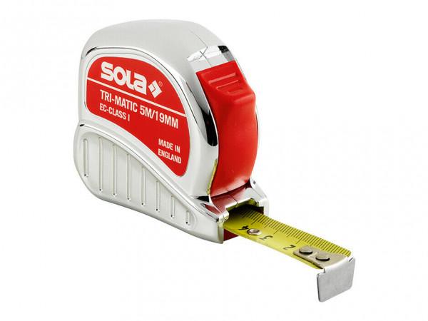 SOLA Maßband Bandmaß Rollbandmaß Taschenbandmaß Rollmeter Tri-Matic 5 m