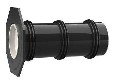 Hauff UFR Futterrohr 100/400 für jede Wandart mit Anspachtelflansch DN100 Länge 400mm (selbst kürzba
