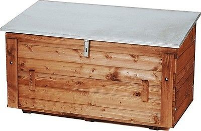 Holz - Fahrzeugbox, Baustellenkiste Krankiste Werkzeugkiste mit Seitentür 43.113