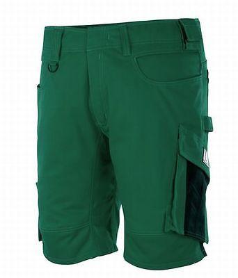 Mascot Shorts Stuttgart, Arbeitsshorts, grün/schwarz, Gr. 58, kurze Hose,Bermuda