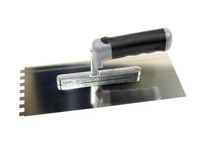 Hufa Distanzkelle 9724 Zahnkelle Zahnspachtel Glättekelle 12x12 mm 45° 2K Griff