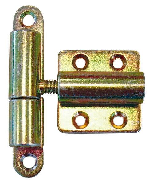 Aushebescharnier verstellbar Scharnier 83x15 40x40 mm gelb verzinkt GAH 341060
