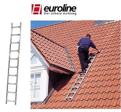 Euroline Alu-Dachleiter Modell 320 Dachdeckerleiter 2,25m -10,10m