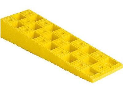 100 Stück, Kunststoffkeile, Ausgleichskeile, gelb