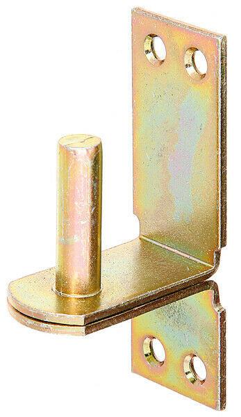 Ladenband-Kloben Kloben auf Platte DII, 13 mm, Aufschraub-Haken gelb verzinkt