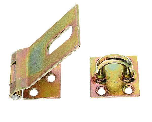Sicherheits Überfalle Schloß Türschloß Verschluss 37mm gelb verzinkt GAH 348359